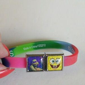 SPONGE BOB & NINJA TURTLES Rubber Rainbow bracelet